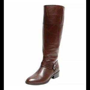 Ralph Lauren Maritza Wide Calf Leather Boots sz 7B